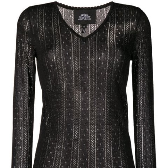 Marc Jacobs Sweaters - Marc Jacobs Pointelle VNeck Sweater